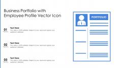 Business Portfolio With Employee Profile Vector Icon Ppt File Graphics Tutorials PDF