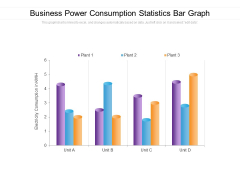 Business Power Consumption Statistics Bar Graph Ppt PowerPoint Presentation Gallery Slides PDF