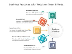 Business Practices With Focus On Team Efforts Ppt PowerPoint Presentation Gallery Master Slide PDF
