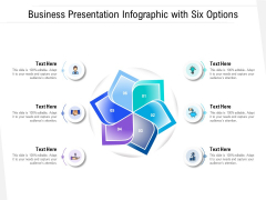 Business Presentation Infographic With Six Options Ppt PowerPoint Presentation Gallery Icons