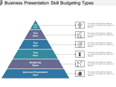Business Presentation Skill Budgeting Types Ppt PowerPoint Presentation Portfolio Shapes