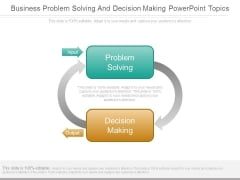 Business Problem Solving And Decision Making Powerpoint Topics