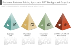 Business Problem Solving Approach Ppt Background Graphics