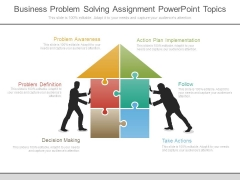 Business Problem Solving Assignment Powerpoint Topics