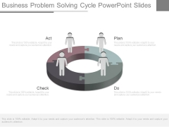 Business Problem Solving Cycle Powerpoint Slides