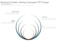 Business Problem Solving Examples Ppt Design