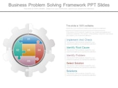 Business Problem Solving Framework Ppt Slides