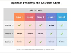 Business Problems And Solutions Chart Ppt PowerPoint Presentation Portfolio Graphics PDF