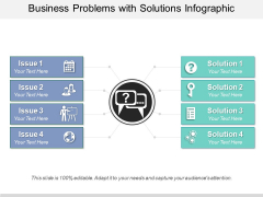 Business Problems With Solutions Infographic Ppt PowerPoint Presentation Slides Graphic Tips PDF