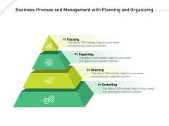 Business Process And Management With Planning And Organizing Ppt PowerPoint Presentation Gallery Slide Download PDF