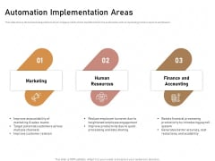 Business Process Automation Automation Implementation Areas Mockup PDF