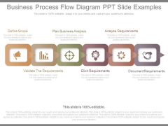 Business Process Flow Diagram Ppt Slide Examples