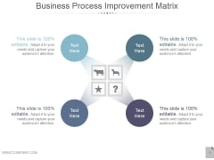 Business Process Improvement Matrix Ppt PowerPoint Presentation Backgrounds