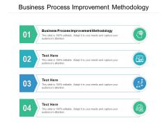 Business Process Improvement Methodology Ppt PowerPoint Presentation Ideas Design Inspiration Cpb