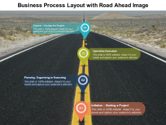 Business Process Layout With Road Ahead Image Ppt PowerPoint Presentation Outline Shapes PDF