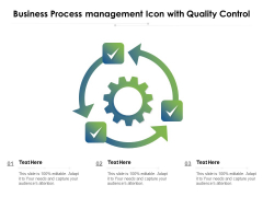 Business Process Management Icon With Quality Control Ppt PowerPoint Presentation File Show PDF
