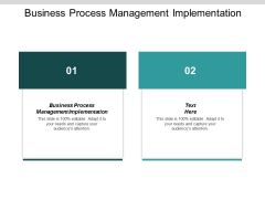 Business Process Management Implementation Ppt Powerpoint Presentation Icon Background Designs Cpb
