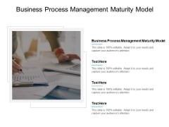 Business Process Management Maturity Model Ppt PowerPoint Presentation Infographic Template Elements Cpb