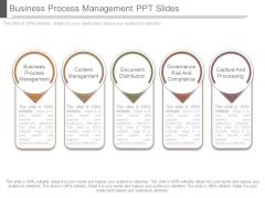 Business Process Management Ppt Slides