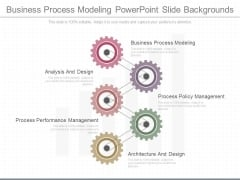 Business Process Modeling Powerpoint Slide Backgrounds