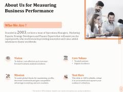 Business Process Performance Measurement About Us For Measuring Business Performance Ideas PDF
