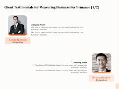 Business Process Performance Measurement Client Testimonials For Measuring Business Performance Elements PDF