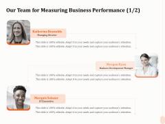 Business Process Performance Measurement Our Team For Measuring Business Performance Development Microsoft PDF