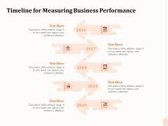 Business Process Performance Measurement Timeline For Measuring Business Performance Summary PDF