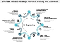 Business Process Redesign Approach Planning And Evaluation Ppt PowerPoint Presentation Styles Show