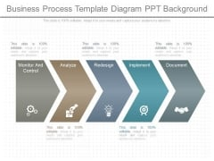 Business Process Template Diagram Ppt Background