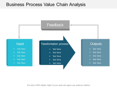 Business Process Value Chain Analysis Ppt Powerpoint Presentation Gallery Graphic Tips