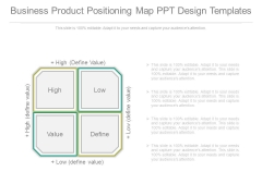 Business Product Positioning Map Ppt Design Templates