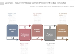 Business Productivity Ratios Sample Powerpoint Slides Templates