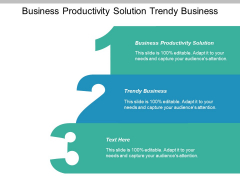 Business Productivity Solution Trendy Business Ppt PowerPoint Presentation Icon Guide