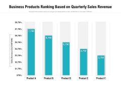 Business Products Ranking Based On Quarterly Sales Revenue Ppt PowerPoint Presentation Summary Template PDF