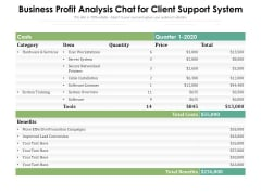 Business Profit Analysis Chat For Client Support System Ppt PowerPoint Presentation Slides Summary PDF