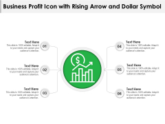 Business Profit Icon With Rising Arrow And Dollar Symbol Ppt PowerPoint Presentation File Sample PDF
