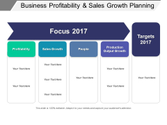 Business Profitability And Sales Growth Planning Ppt PowerPoint Presentation Inspiration Ideas