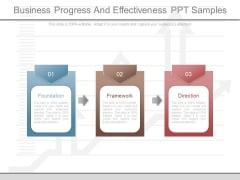 Business Progress And Effectiveness Ppt Samples