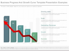 Business Progress And Growth Curve Template Presentation Examples