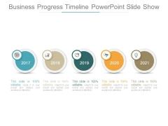 Business Progress Timeline Powerpoint Slide Show
