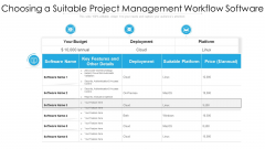 Business Project Management Process Flow With Deployment Ppt Model Example PDF