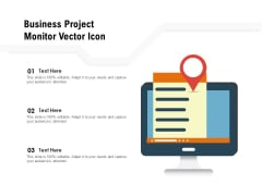 Business Project Monitor Vector Icon Ppt PowerPoint Presentation Visual Aids Portfolio PDF