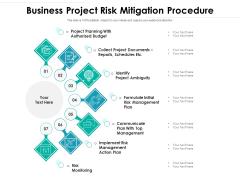 Business Project Risk Mitigation Procedure Ppt PowerPoint Presentation Visual Aids Background Images PDF