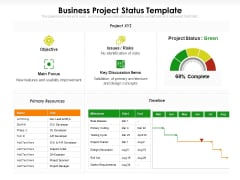 Business Project Status Template Ppt PowerPoint Presentation File Example File PDF