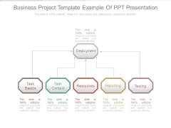 Business Project Template Example Of Ppt Presentation