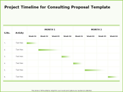 Business Project Timeline For Consulting Proposal Template Ppt Inspiration Rules PDF