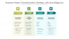 Business Project Transformation Strategy With Due Diligence Ppt PowerPoint Presentation Pictures Layout PDF
