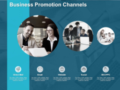 Business Promotion Channels Ppt PowerPoint Presentation Inspiration Vector