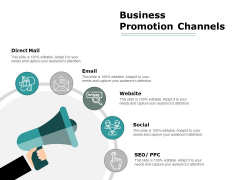 Business Promotion Channels Ppt PowerPoint Presentation Professional Graphics Download